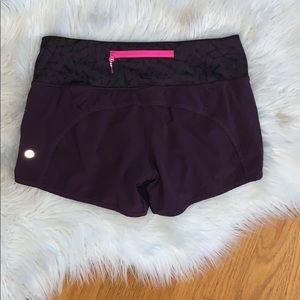 Lululemon Wine Colored Speed Shorts